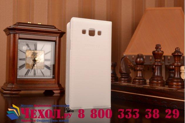 Фирменный оригинальный чехол с логотипом для Samsung Galaxy A7/A7 Duos SM-A700F/A700H/A700FD S-View Cover белый