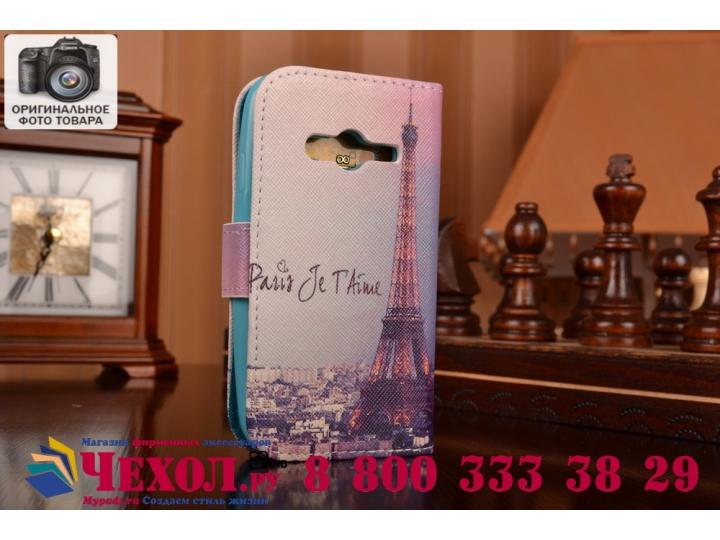 Фирменный уникальный необычный чехол-подставка с визитницей кармашком для Samsung GALAXY Ace 4 Duos SM-G313HU/..