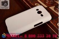 Фирменная задняя панель-крышка-накладка из тончайшего и прочного пластика для Samsung GALAXY Ace 4 Duos SM-G313HU/DS  белая
