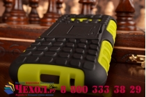 Противоударный усиленный ударопрочный фирменный чехол-бампер-пенал для Samsung GALAXY Ace 4 Duos SM-G313HU/DS зеленый