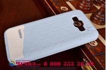 """Фирменная необычная уникальная полимерная мягкая задняя панель-чехол-накладка для Samsung Galaxy E7 """"тематика Андроид в черничном шоколаде"""""""