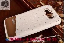 """Фирменная необычная уникальная полимерная мягкая задняя панель-чехол-накладка для Samsung Galaxy E7 """"тематика Андроид в Белом Шоколаде"""""""