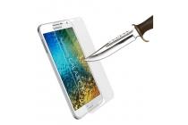 Фирменное защитное закалённое противоударное стекло премиум-класса из качественного японского материала с олеофобным покрытием для Samsung Galaxy E7 SM-E700F