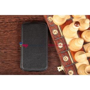 Чехол-флип для Samsung Galaxy Grand GT-i9082 черный кожаный