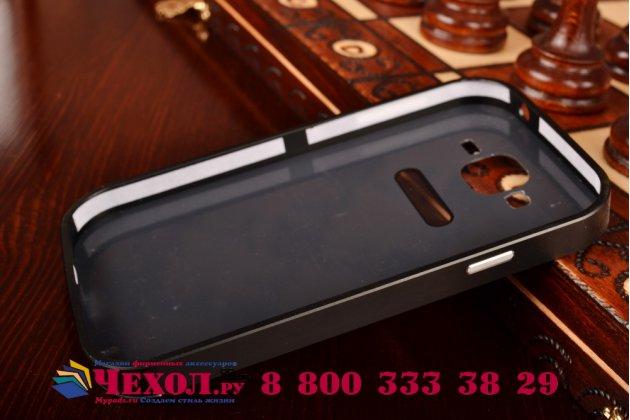 Фирменная металлическая задняя панель-крышка-накладка из тончайшего облегченного авиационного алюминия для Samsung Galaxy Grand GT-i9082 черная