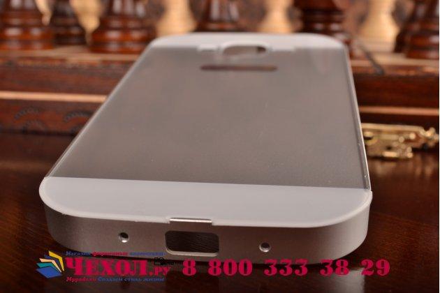 Фирменная металлическая задняя панель-крышка-накладка из тончайшего облегченного авиационного алюминия для Samsung Galaxy Grand GT-i9082 серебристая