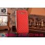 Фирменная роскошная задняя-панель-накладка декорированная кристалликами на Samsung Galaxy Grand GT-i9082 красн..