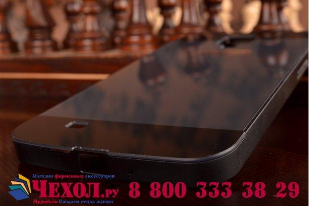 Фирменная металлическая задняя панель-крышка-накладка из тончайшего облегченного авиационного алюминия для Samsung Galaxy Mega 5.8 GT-i9150/i9152 черная