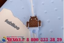 """Фирменная необычная уникальная полимерная мягкая задняя панель-чехол-накладка для Samsung Galaxy Mega 5.8 GT-i9150/i9152  """"тематика Андроид в черничном  Шоколаде"""""""