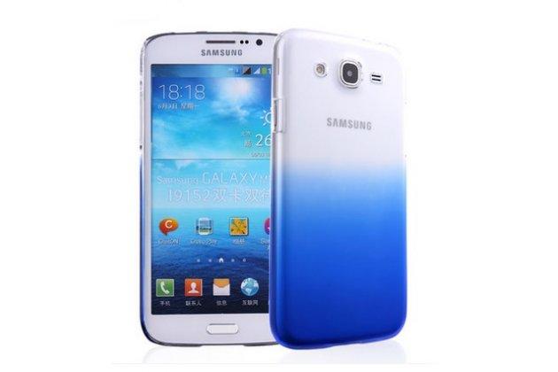 Фирменная из тонкого и лёгкого пластика задняя панель-чехол-накладка для Samsung Galaxy Mega 5.8 GT-i9150/i9152 прозрачная с эффектом дождя