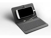 Фирменный чехол со встроенной клавиатурой для телефона Samsung Galaxy Mega 5.8 дюймов черный кожаный + гаранти..