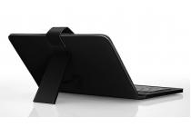 Фирменный чехол со встроенной клавиатурой для телефона Samsung Galaxy Mega 5.8 дюймов черный кожаный + гарантия