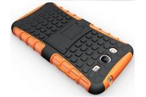 Противоударный усиленный ударопрочный фирменный чехол-бампер-пенал для Samsung Galaxy Mega 5.8 GT-i9150/i9152 оранжевый