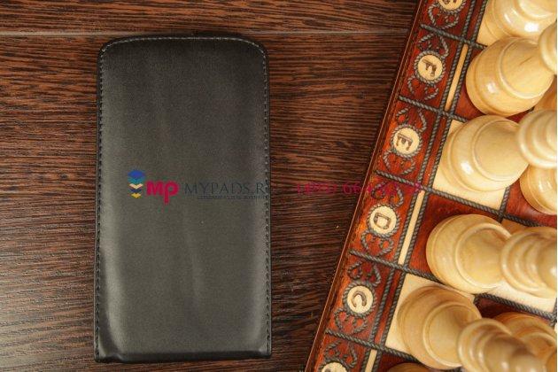 Вертикальный откидной чехол-флип для Samsung Galaxy Mega 5.8 GT-i9150/i9152 черный кожаный