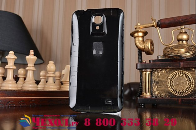 Усиленная батарея-аккумулятор большой повышенной ёмкости 7000mAh для телефона Samsung Galaxy Mega 6.3 GT-i9200/i9205  + задняя крышка в комплекте черная + гарантия