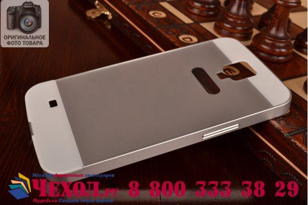 Фирменная металлическая задняя панель-крышка-накладка из тончайшего облегченного авиационного алюминия для Samsung Galaxy Mega 6.3 GT-i9200 серебристая
