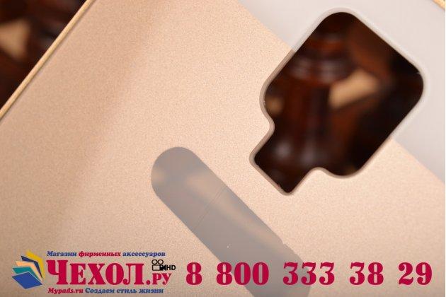 Фирменная металлическая задняя панель-крышка-накладка из тончайшего облегченного авиационного алюминия для Samsung Galaxy Mega 6.3 GT-i9200 золотая