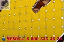 Фирменная роскошная задняя-панель-накладка декорированная кристалликами на Samsung Galaxy Mega 6.3 GT-i9200 желтая