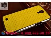 Фирменная роскошная задняя-панель-накладка декорированная кристалликами на Samsung Galaxy Mega 6.3 GT-i9200 же..