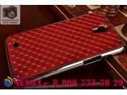 Фирменная роскошная задняя-панель-накладка декорированная кристалликами на Samsung Galaxy Mega 6.3 GT-i9200 кр..