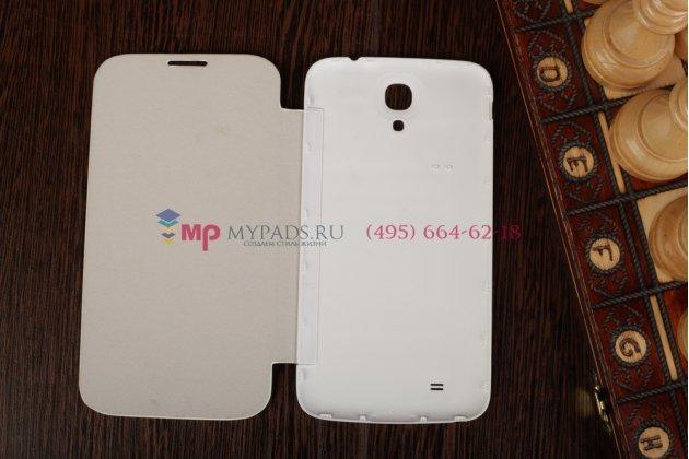 Фирменный оригинальный чехол Flip-cover для Samsung Galaxy Mega 6.3 i9200/i9205 белый