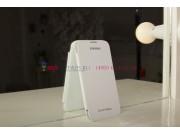 Фирменный оригинальный чехол Flip-cover для Samsung Galaxy Mega 6.3 i9200/i9205 белый..