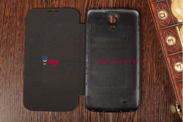 Фирменный оригинальный чехол Flip-cover для Samsung Galaxy Mega 6.3 i9200/i9205 черный