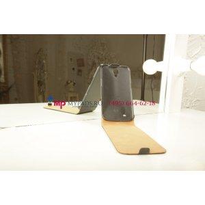 Вертикальный откидной чехол-флип для Samsung Galaxy Mega 6.3 GT-i9200/i9205 черный кожаный