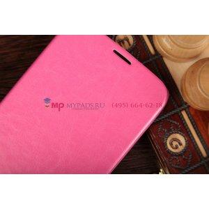 Чехол-книжка из качественной импортной кожи для Samsung Galaxy Mega 6.3 GT-i9200/i9205 розовый