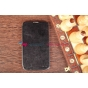 Чехол-футляр из качественной импортной кожи для Samsung Galaxy Mega 6.3 черный