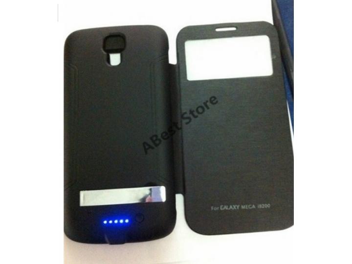 Чехол-бампер со встроенным усиленным аккумулятором большой ёмкости 4500mAh для Samsung Galaxy Mega 6.3 GT-i920..