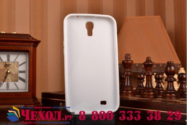 Фирменная ультра-тонкая полимерная из мягкого качественного силикона задняя панель-чехол-накладка для Samsung Galaxy Mega 6.3 GT-i9200  белая