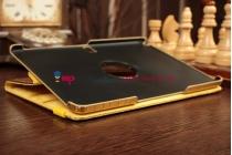 Эксклюзивный фирменный чехол для Samsung Galaxy Note 10.1 2014 edition SM-P6000/P6010/P6050 кожа крокодила золотой. Количество ограничено.