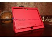 Фирменный чехол-книга для Samsung Galaxy Note 10.1 2014 edition SM-P6000/P6010/P6050 красный кожаный..