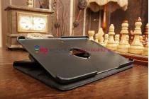 Чехол для Samsung Galaxy Note 10.1 2014 edition SM-P6000/P6010/P6050 поворотный черный кожаный