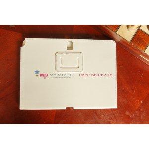 Фирменный чехол для Samsung Galaxy Note 10.1 2014 edition SM-P600/P601/P605 белый кожаный