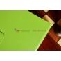 Фирменный чехол-обложка для Samsung Galaxy Note 10.1 2014 edition SM-P600/P601/P605 зеленый кожаный