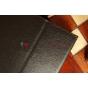 Фирменный чехол-обложка для Samsung Galaxy Note 10.1 2014 edition SM-P6000/P6010/P6050 черный кожаный