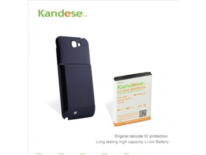 Усиленная батарея-аккумулятор большой повышенной ёмкости 8400mah для телефона Samsung Galaxy Note 2 / Note 2 L..