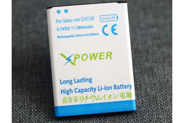 Усиленная батарея-аккумулятор большой повышенной ёмкости 3800mah  для телефона Samsung Galaxy Note 2 / Note 2 LTE GT-N7100/N7105+ гарантия