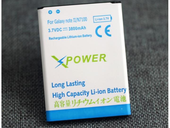 Усиленная батарея-аккумулятор большой повышенной ёмкости 3800mah  для телефона Samsung Galaxy Note 2 / Note 2 ..