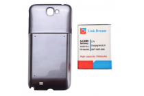 Усиленная батарея-аккумулятор большой ёмкости 6800mah для телефона Samsung Galaxy Note 2 / Note 2 LTE GT-N7100/N7105 + задняя крышка черная + гарантия