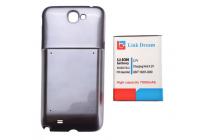 Усиленная батарея-аккумулятор большой ёмкости 6800mah для телефона Samsung Galaxy Note 2 / Note 2 LTE GT-N7100/N7105 + задняя крышка серая + гарантия
