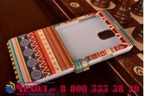 Фирменный чехол-книжка с безумно красивым расписным эклектичным узором на Samsung Galaxy Note 3 с окошком для звонков