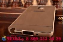 Фирменная металлическая задняя панель-крышка-накладка из тончайшего облегченного авиационного алюминия для Samsung Galaxy Note 3 золотая