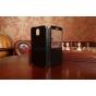 Чехол-книжка для Samsung Galaxy Note 3 SM-N900/N9005 с окошком черный кожаный..