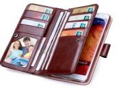 Фирменный чехол-кошелек из качественной импортной кожи с подставкой застёжкой и визитницей для Самсунг Галакси..