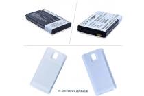 Усиленная батарея-аккумулятор большой ёмкости 7500mAh для телефона Samsung Galaxy Note 3 SM-N900/N9005 + задняя крышка в комплекте белая + гарантия