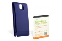 Усиленная батарея-аккумулятор большой ёмкости 8600mah для телефона Samsung Galaxy Note 3 SM-N900/N9005 + задняя крышка синяя + гарантия