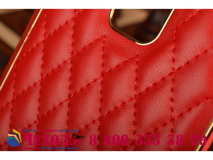 Фирменная роскошная элитная задняя панель-крышка на металлической основе обтянутая импортной кожей прошитой ст..